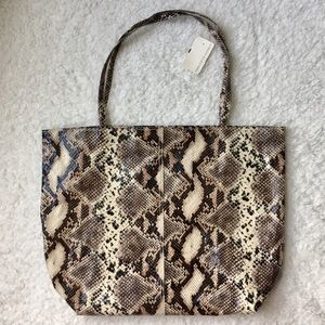Saks Fifth Avenue Faux Snakeprint Large Tote